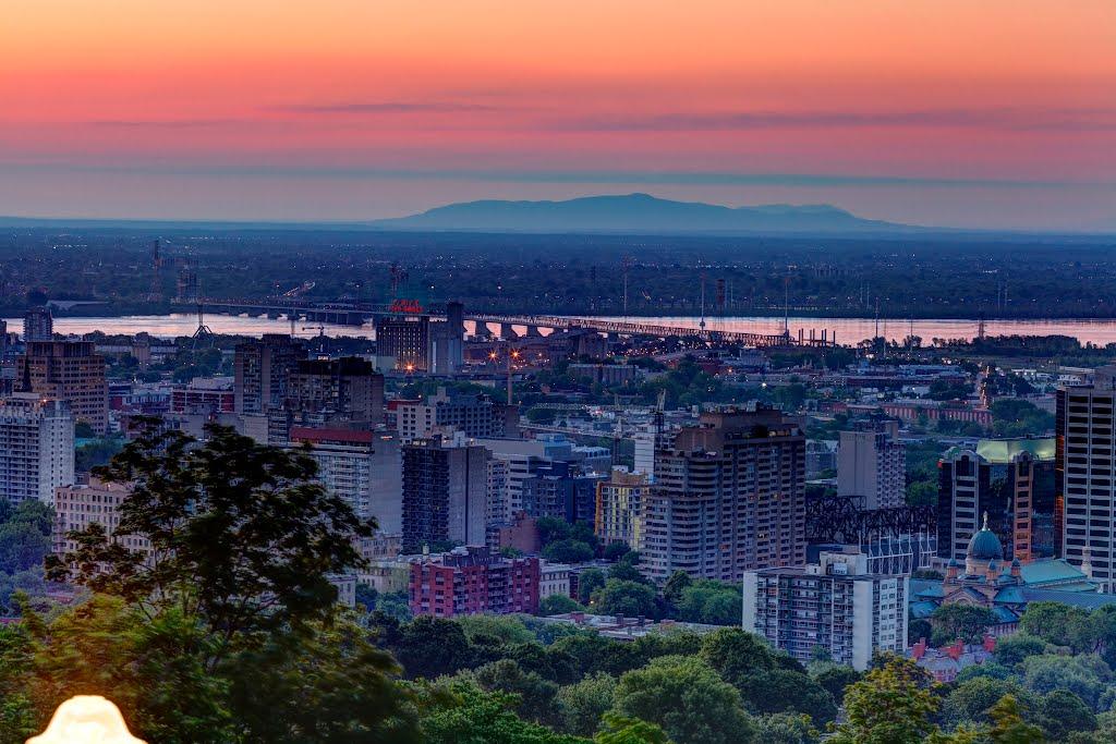 Westmount Summit Lookout in Montreal.