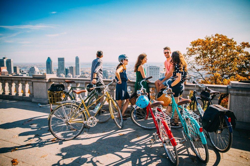 Mount Royal Bike Path In Montreal.
