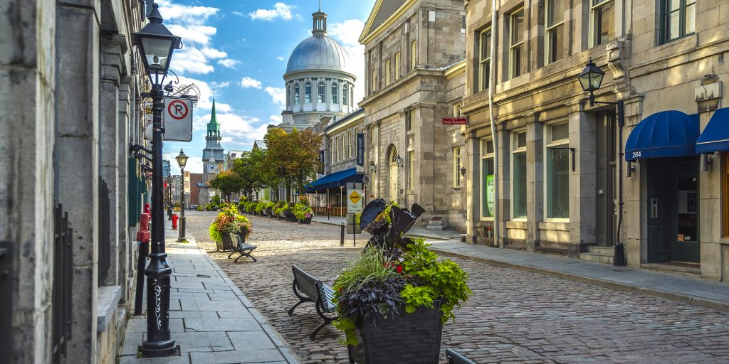 Picture of a street in Montreal.