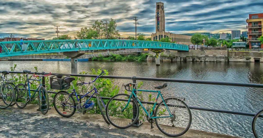 Bike path in Montreal.
