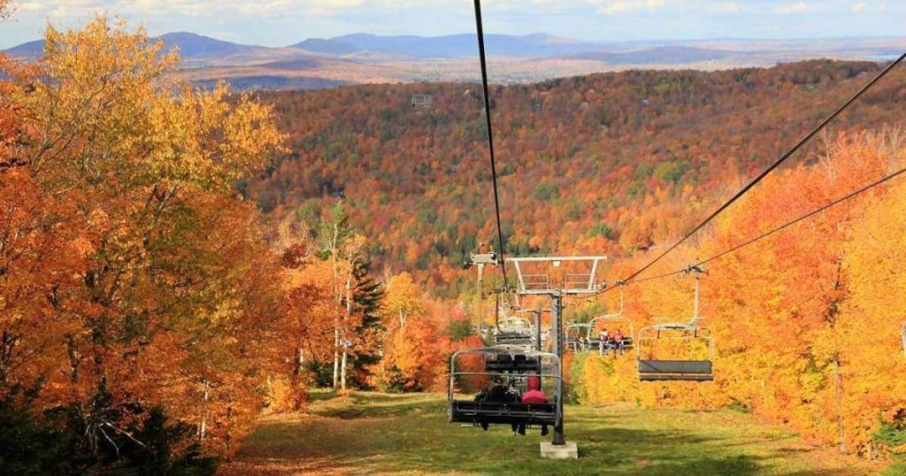 Mont Sutton chairlift in Quebec.