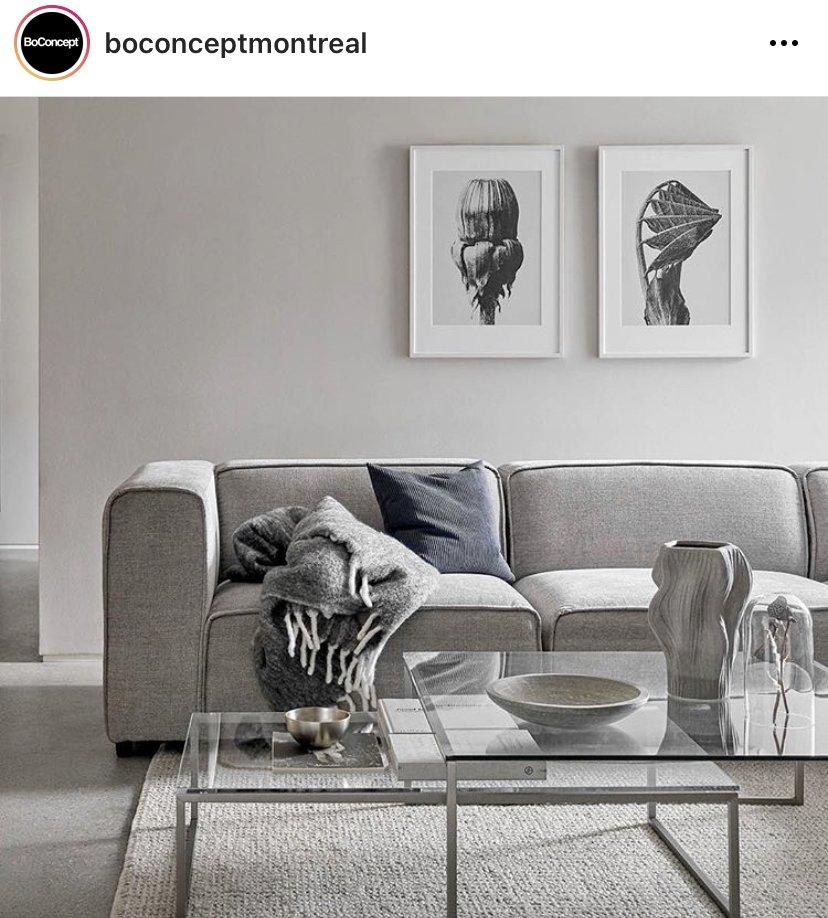 Post Instagram de BoConcept Montréal