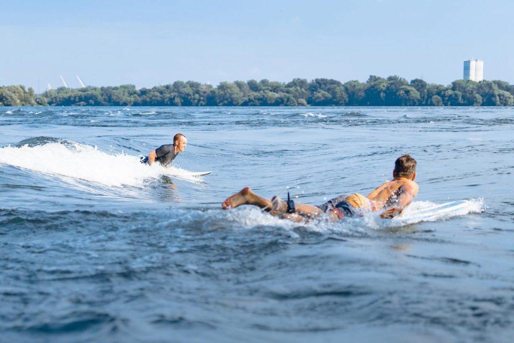 Montreal secret - river surfing