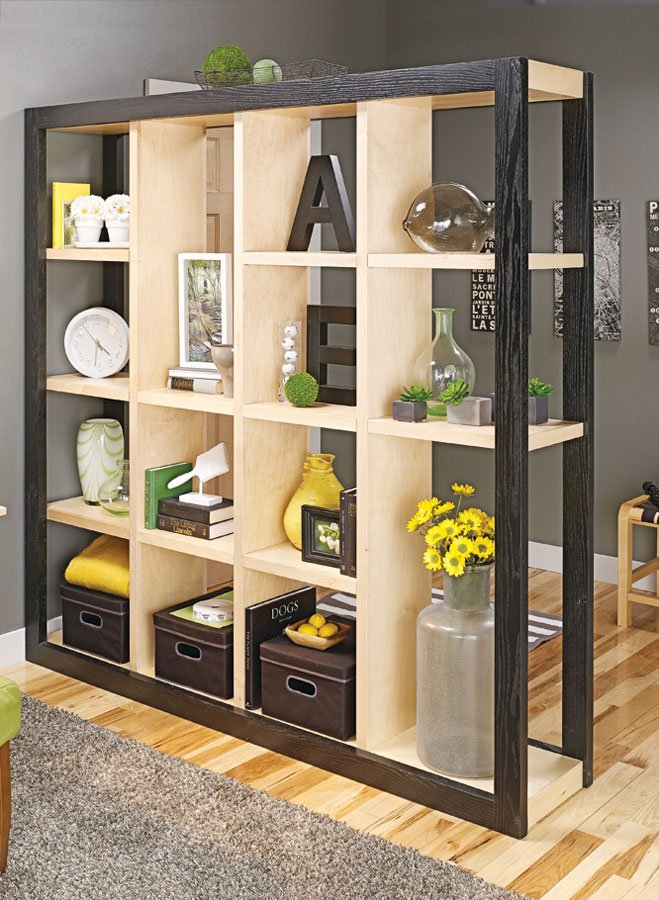 Room dividers with storage