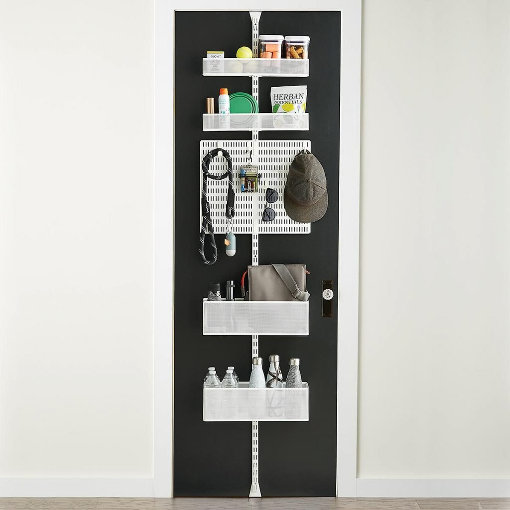 Shelving units on the back of doors - organizing small spaces.